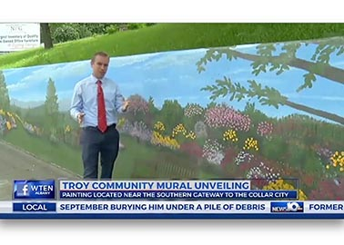 Albany News 10 Mural Broadcast